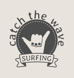 Surfing logo symbol or icon design template with vector