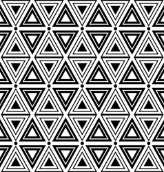 Triangles and diamonds seamless texture vector image vector image