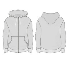 windbreaker with patch pockets vector image