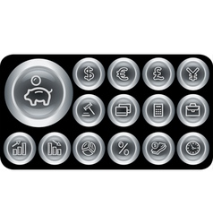 Finance buttons vector