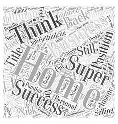 Super success with a home business word cloud vector