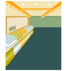 Modern design interior shop vector