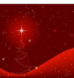Winter christmas scene vector