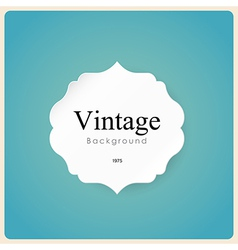 White vintage frame on blue background vector