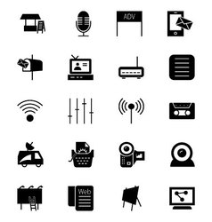 Media and advertisement icons 4 vector