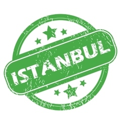 Istanbul green stamp vector