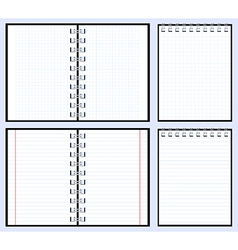 Paper notebooks vector