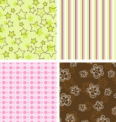 Scrapbook patterns vector