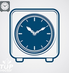 Square table clock vector