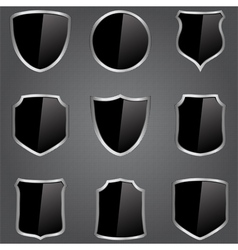 black shields vector image