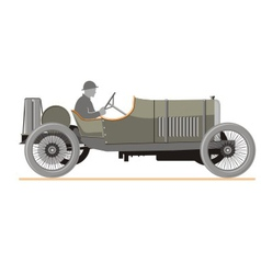 Cartoon old retro car vector image