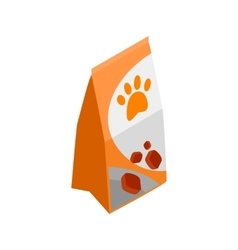 Packing of dog food icon isometric 3d style vector