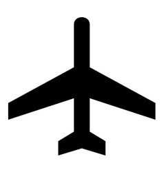 Air craft symbol vector