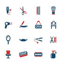barbershop icon set vector image vector image