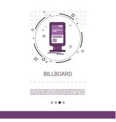 Billboard advertisement placard sign web banner vector