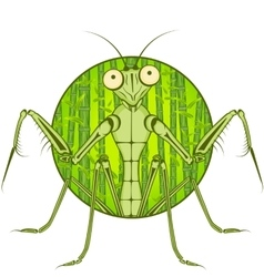 Cartoon character mantis vector
