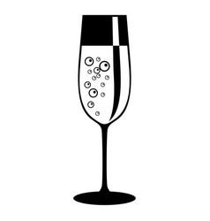 champagne glass icon black vector image