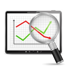 Chart on the Screen of Tablet PC vector image vector image