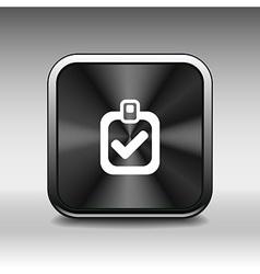 checkmark icon test form mark tick check choice vector image vector image
