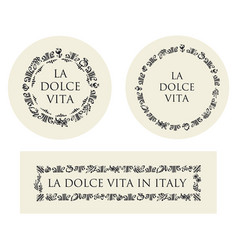 Concept hand drawn italian food elements vector
