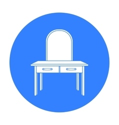 Dressing table icon in black style isolated on vector image