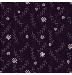 Elegant seamless pattern with twigs and flowers vector