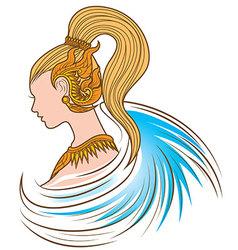Fantasy thai girl vector