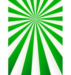 Green and white rays abstract circus poster vector