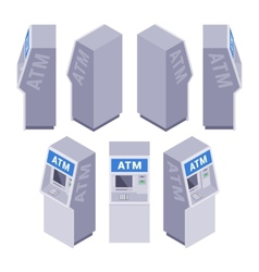 Isometric ATM vector image