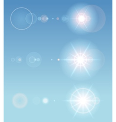 Lens flare set vector image vector image