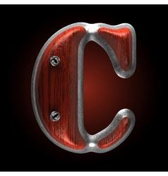metal and wood figure c vector image