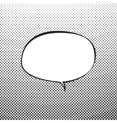 Oval speech bubble on pop art background vector