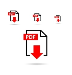 PDF file download icon vector image vector image