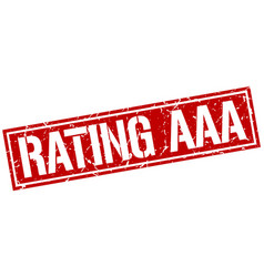 Rating aaa square grunge stamp vector