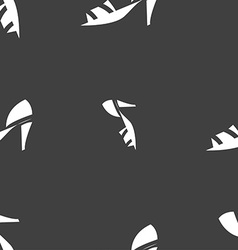 Shoe icon sign seamless pattern on a gray vector
