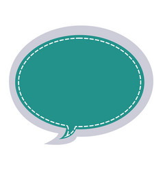 Sticker oval bubble frame callout dialogue vector