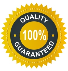 sticker - quality 100 guaranteed vector image vector image