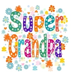 Super grandpa vector