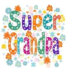 Super grandpa vector