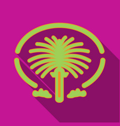 The palm jumeirah icon in flat style isolated on vector