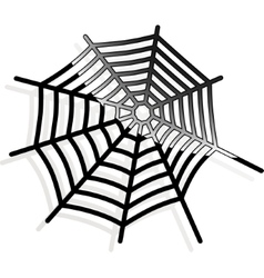 The spiderweb icon Web symbol vector image