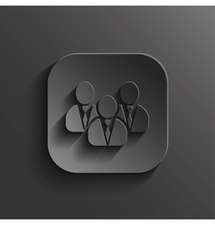User group network icon - black app button vector image vector image