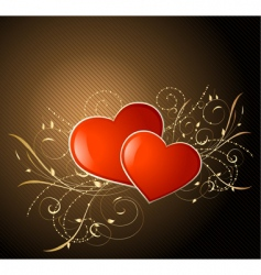 valentine on gold vector image