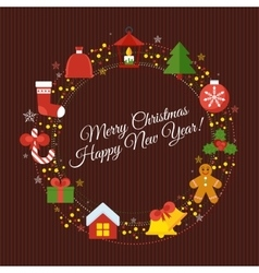Wine christmass card vector