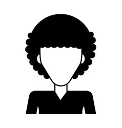 Woman with afro hair icon image vector
