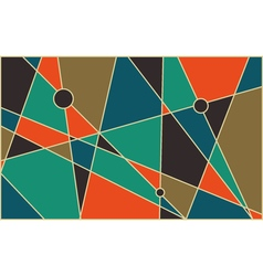 Mid century abstract background vector