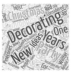 Decorating for a new years eve party word cloud vector
