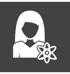 Science woman vector