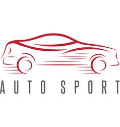 auto sport abstract car design template vector image