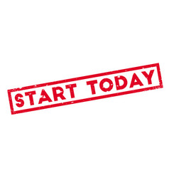 start today rubber stamp vector image